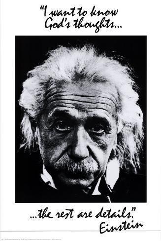 Einstein: God's Thoughts Poster