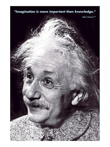 Einstein - Imagination Premium Giclee Print