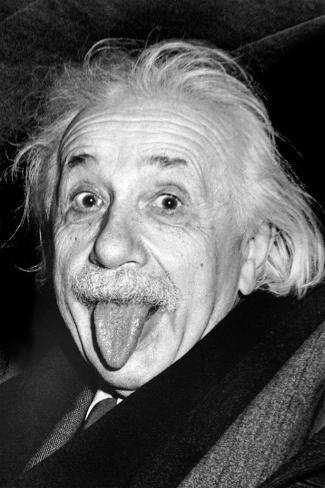 Einstein - Tongue Poster