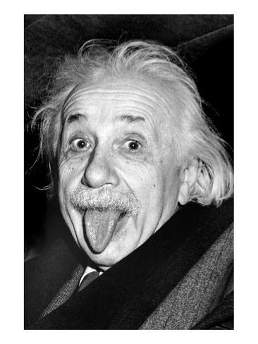 Einstein, Tongue Premium Giclee Print