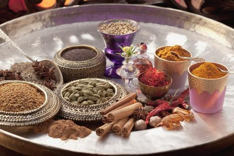 An Selection of Indian Spices Photographic Print