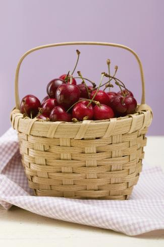 Cherries in a Basket Photographic Print