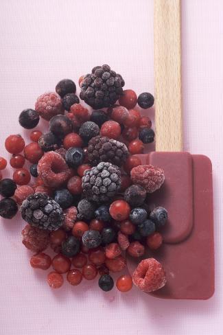 Frozen Mixed Berries Photographic Print