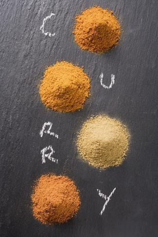 Various Types of Curry Powder Photographic Print