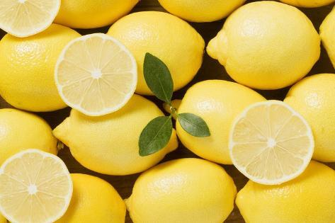 Whole Lemons and Lemon Slices Photographic Print