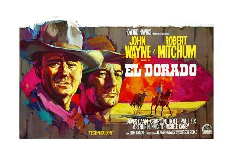 El Dorado, John Wayne, Robert Mitchum, Belgian Poster Art, 1967 Giclee Print