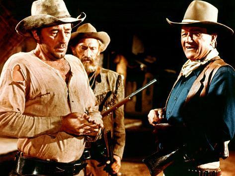 El Dorado, Robert Mitchum, Arthur Hunnicutt, John Wayne, 1967 Photo