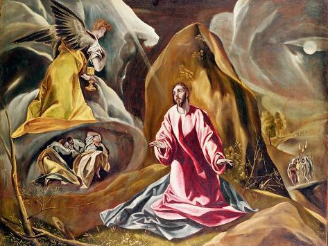 agony in the garden of gethsemane c1590 giclee print by el greco at allposterscom - Agony In The Garden