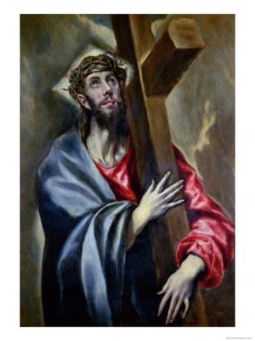 Christ Clasping the Cross Giclee Print