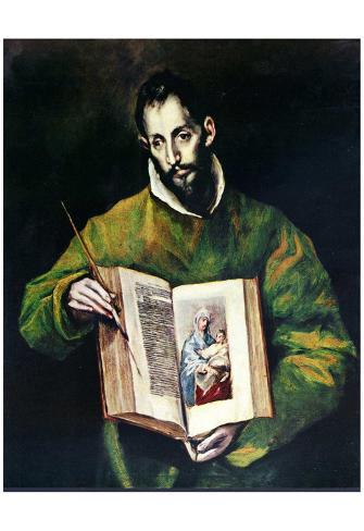 El Greco (St. Luke as painter) Art Poster Print Póster