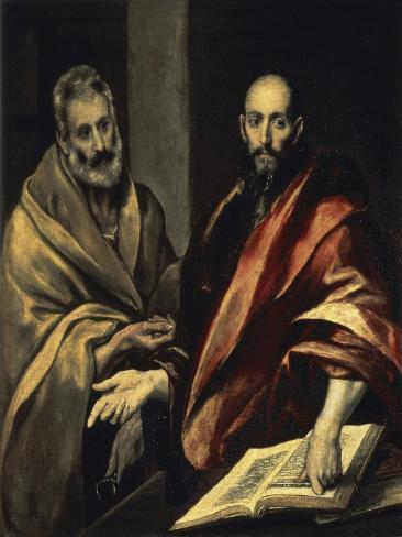 The Apostles St. Peter and St. Paul Lámina giclée