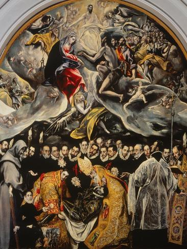 The Burial of the Count of Orgaz Giclee Print