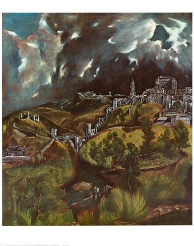View of Toledo, 1597 Art Print
