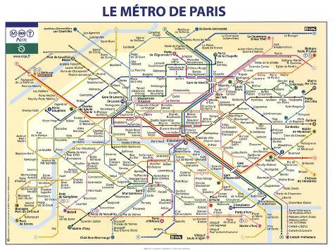 El metro de París Lámina