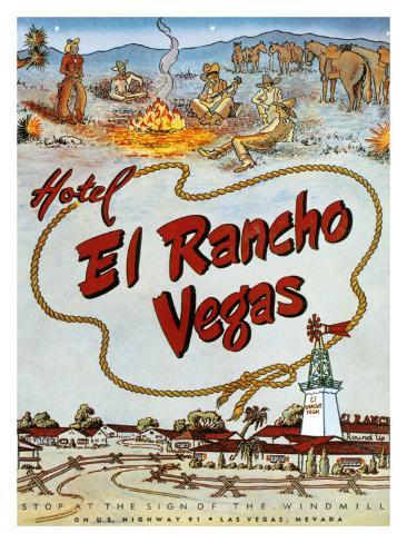 El Rancho, Las Vegas Giclee Print