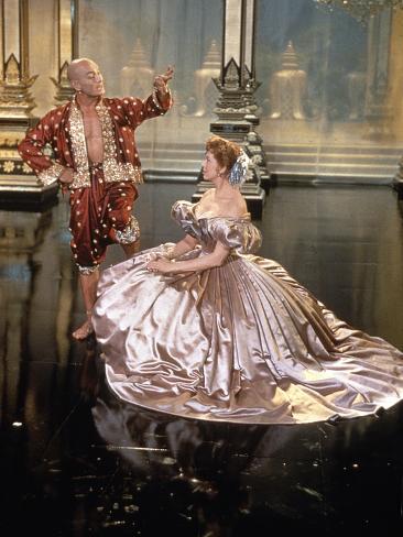 El rey y yo, Yul Brynner, Deborah Kerr, 1956 Fotografía