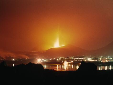 Eldfell Volcano Eruption 1973, Westman Islands, Iceland Photographic Print