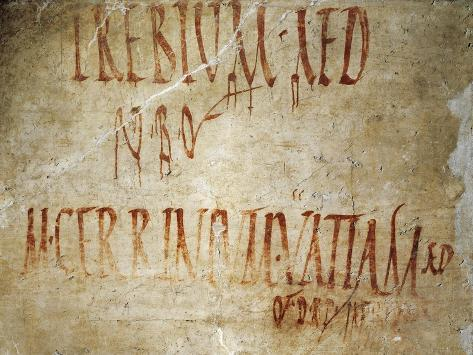 Electoral Announcement, from Italy, Campania, Pompeii, Via Consolare Giclee Print