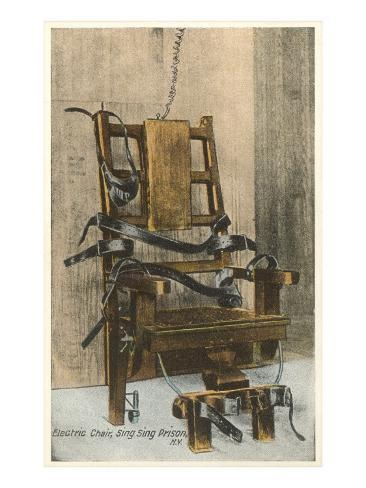 Electric Chair, Sing Sing, New York Art Print