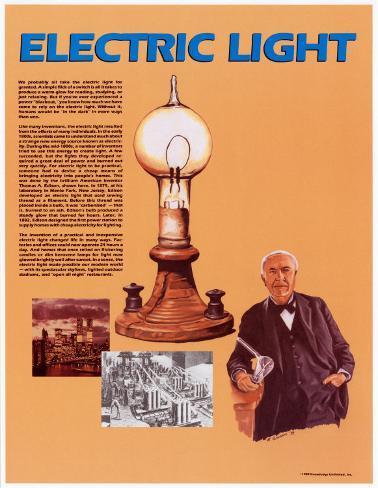 Electric Light Framed Art Print