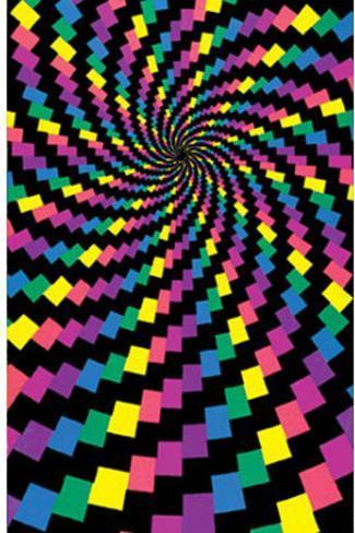 Electric Rainbow (Spiral) Flocked Blacklight Poster Print Blacklight Poster
