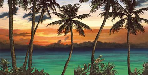 Emerald Sunset Art Print