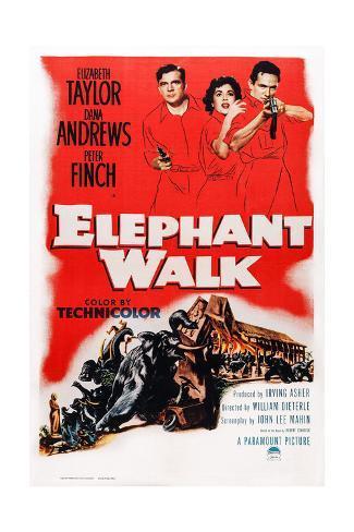 Elephant Walk Stampa giclée