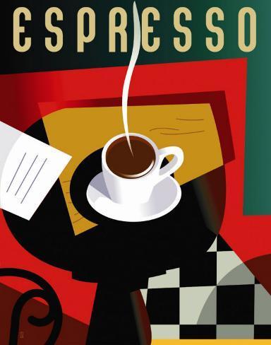 Cubist Espresso Art Print