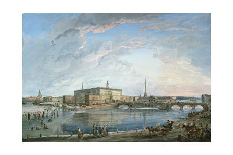 View of Stockholm from the Fersen Terrace Giclee Print