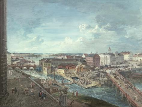 View of Stockholm from the Royal Palace Giclee Print
