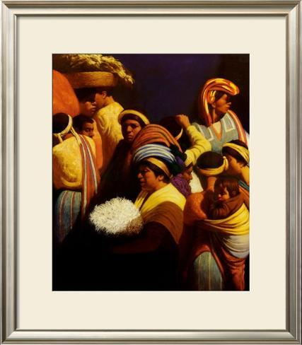 In the Heart of the Crowd Framed Art Print