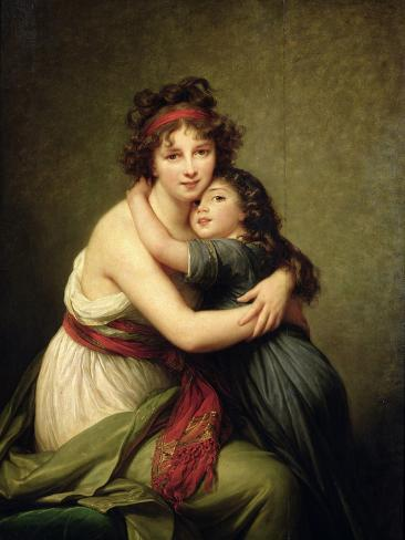 Madame Vigee-Lebrun and Her Daughter, Jeanne-Lucie-Louise (1780-1819) 1789 Giclee Print