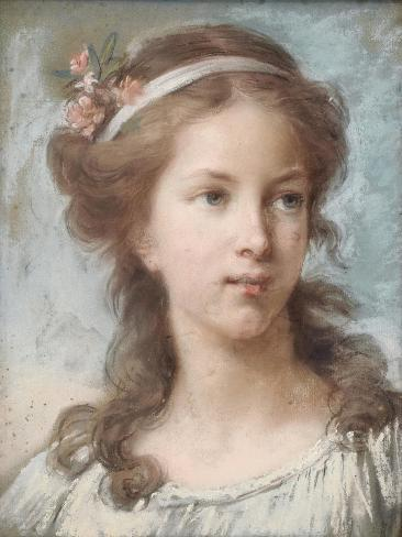 Portrait of a Young Girl Stampa giclée