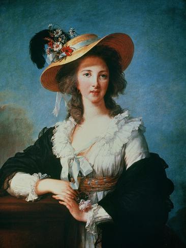 Portrait of the Duchess of Polignac (circa 1749-93) Giclee Print