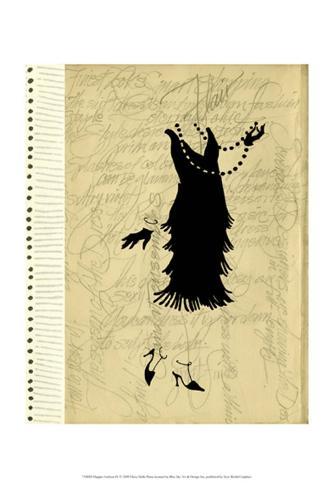 Flapper Fashion IV Art Print