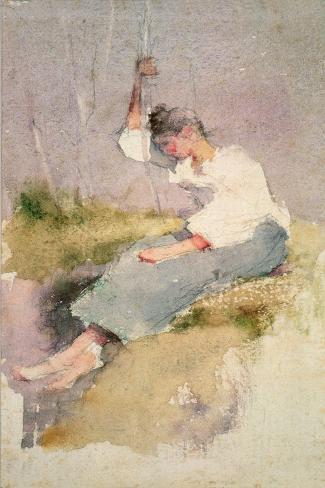 Louise, a Breton Girl Lámina giclée