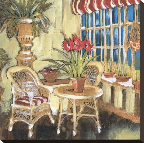 Amaryllis Bouquet Stretched Canvas Print