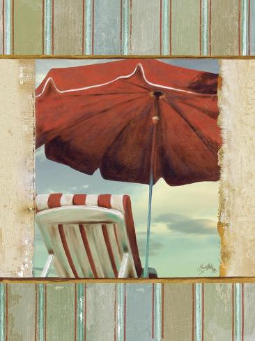 chaise de plage i posters by elizabeth medley. Black Bedroom Furniture Sets. Home Design Ideas