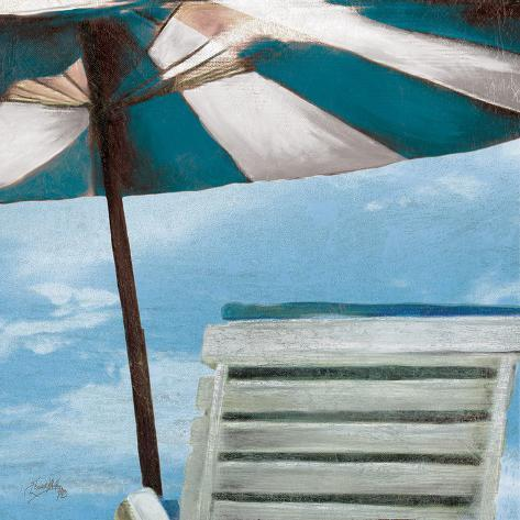 Chaise de plage ii prints by elizabeth medley at for Chaise de plage