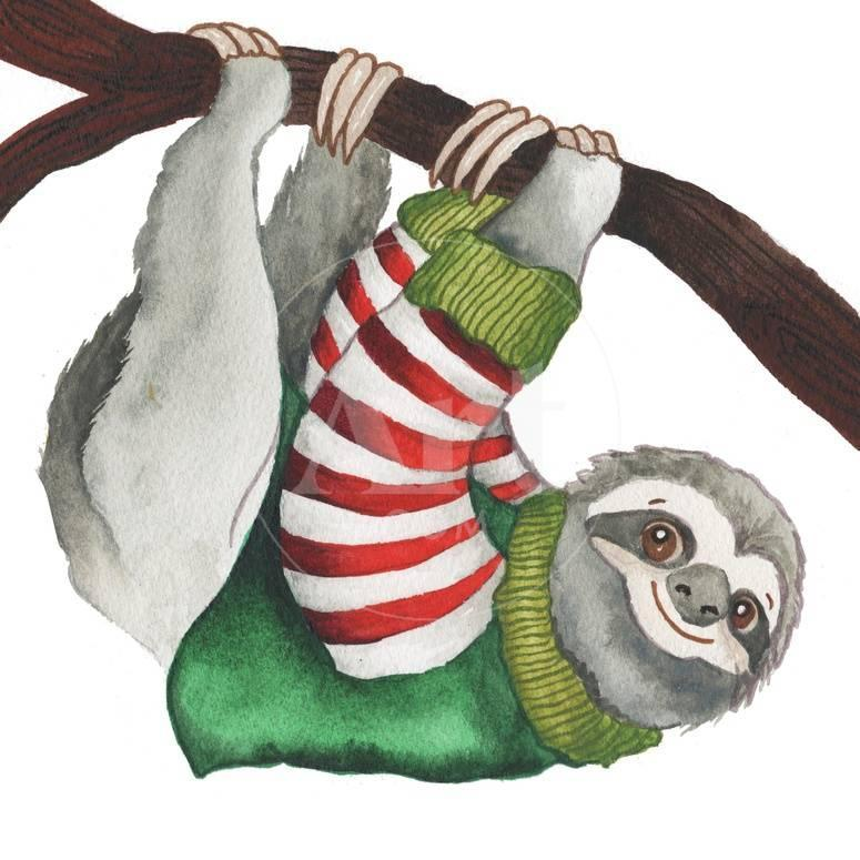 Christmas Sloth.Christmas Sloth Ii