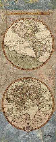 World Map Panel II Art Print