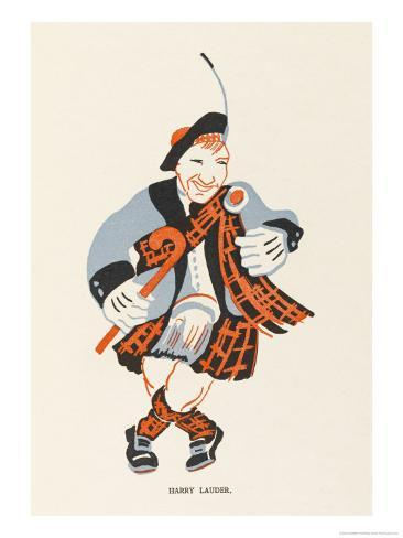 Sir Harry Lauder, Scottish Music-Hall Entertainer Giclee Print