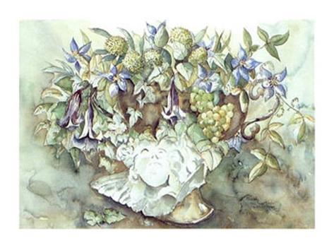 Flower Aquarel I Framed Art Print