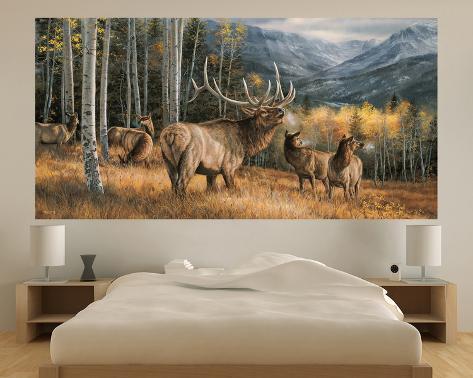 Elk indoor outdoor vinyl wall mural wall mural at for Custom vinyl mural prints