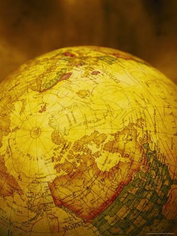World Globe Showing No America Photographic Print
