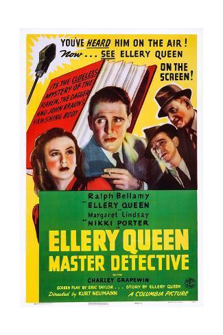Ellery Queen Giclee Print