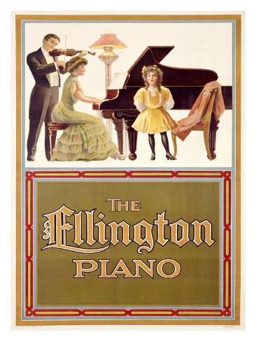Ellington Piano Giclee Print