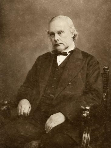 Joseph Lister English Surgeon Medical Scientist and Founder of Antiseptic Surgery Impressão fotográfica