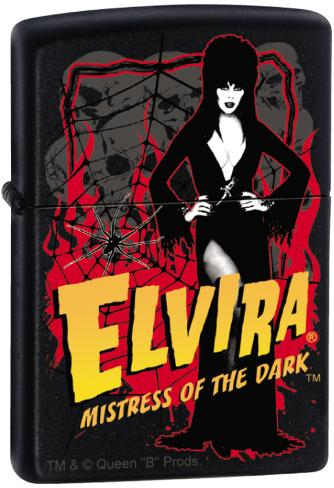 Elvira - Black Matte Zippo Lighter Lighter
