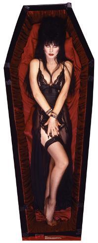Elvira Coffin Cardboard Cutouts